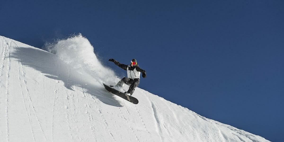 Snowboard im Kleinwalsertal