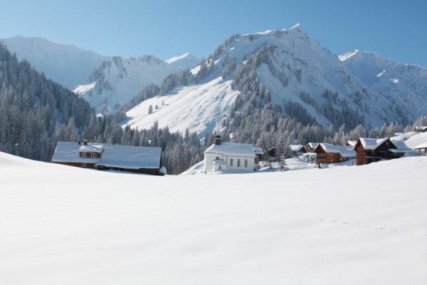 Schnee im Kleinwalsertal