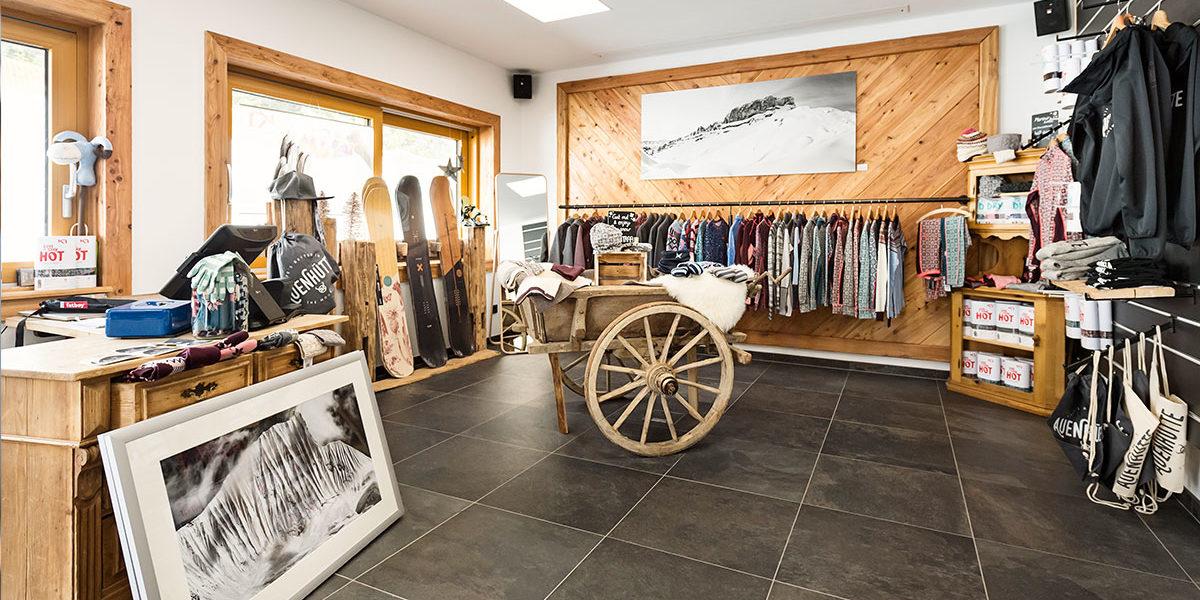 Sportshop Ifen-Hirschegg in der Auenhütte