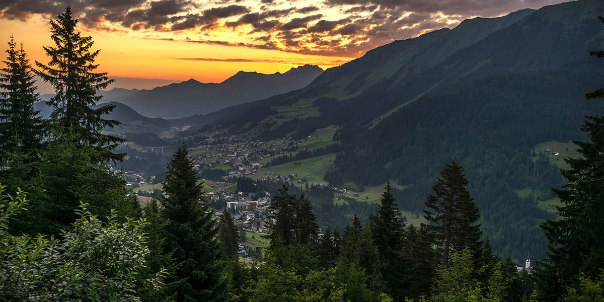 Sonnenuntergang Kleinwalsertal-Ifen