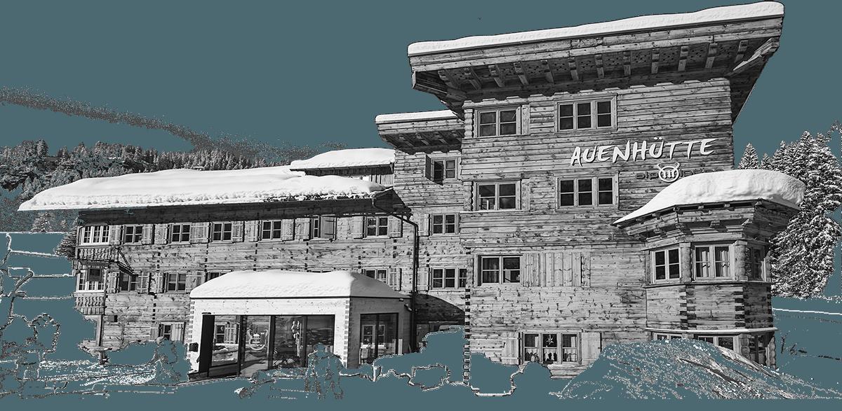Bergrestaurant Zeichnung Auenhütte Kleinwalsertal